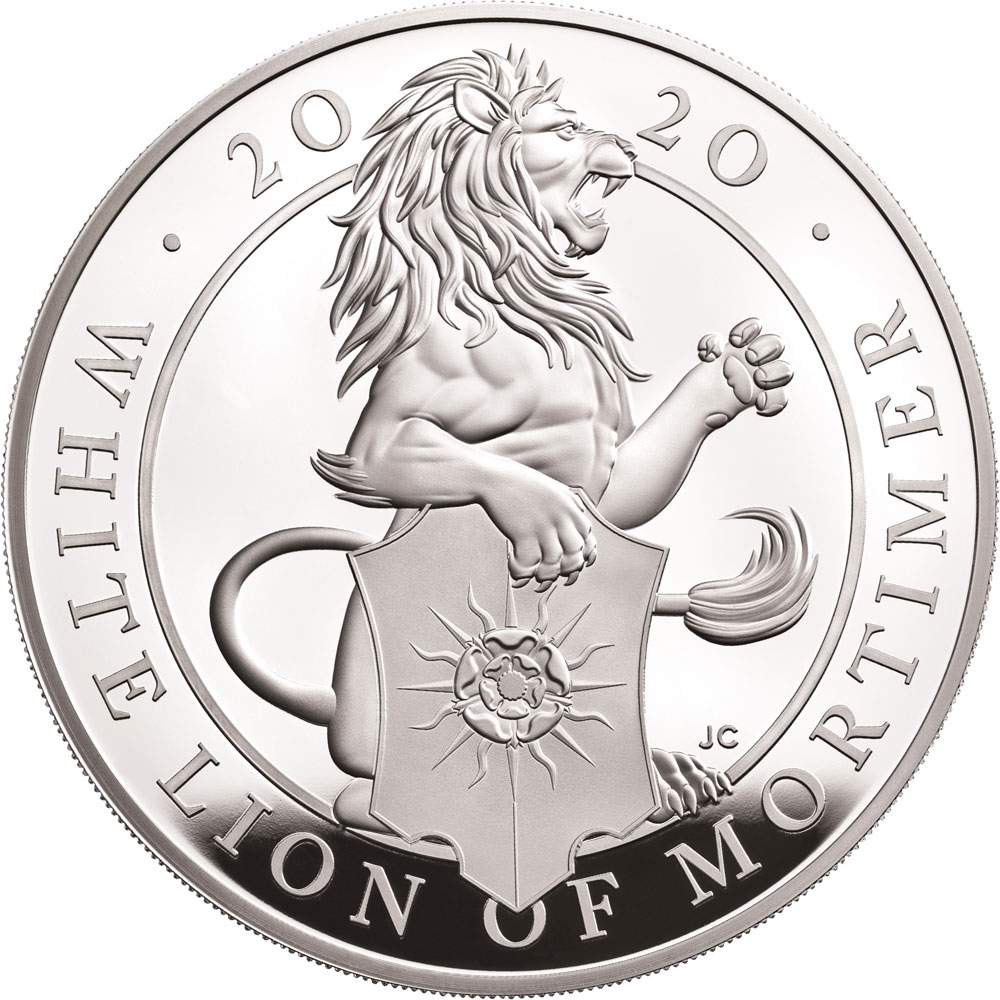 QUEENS BEASTS: THE WHITE LION OF MORTIMER 2019 United Kingdom