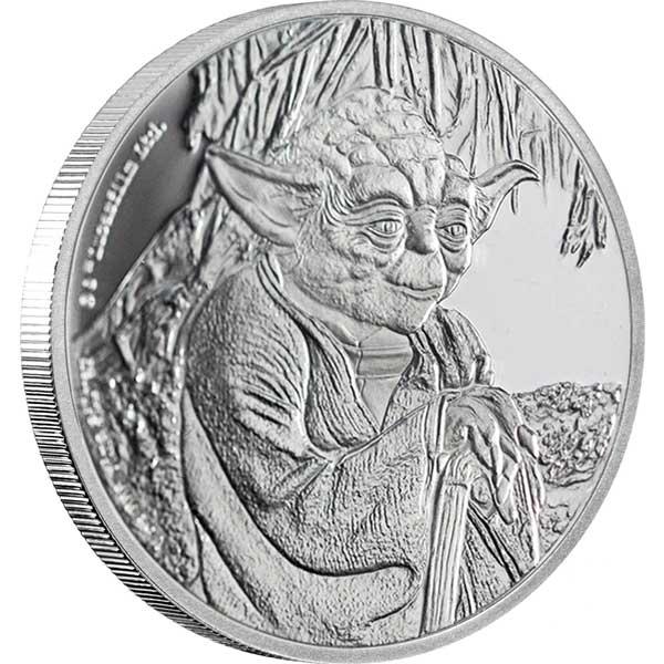 2016 Star Wars Classic Yoda 1oz Silver