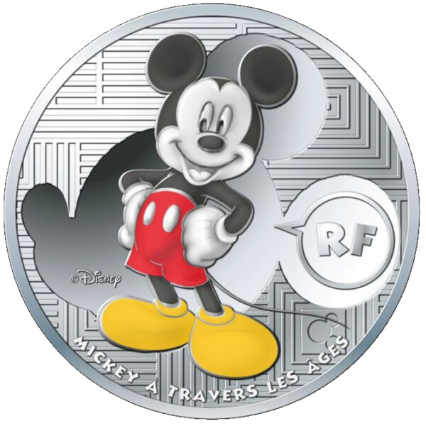 2016 Classic Mickey Through The Ages 22.2g Silver Co