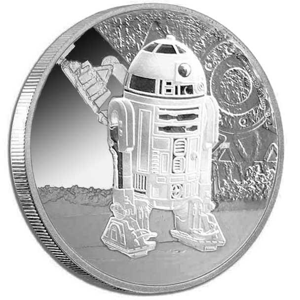 2016 Star Wars Classic R2-D2 1oz Silver Coin