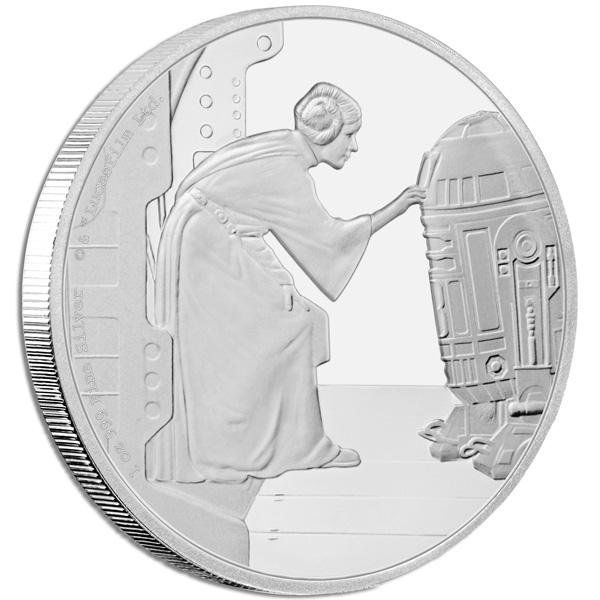 2016 Star Wars Classic Princess Leia Organa 1oz Silver