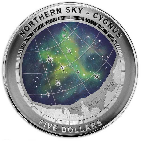 2016 Northern Sky Cygnus 1oz Silver Proof Domed Coin