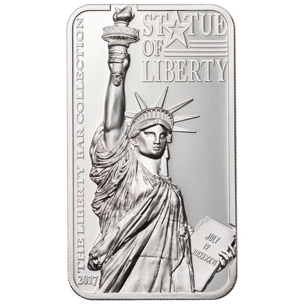 CIT 2017 Statue of Liberty 2oz Silver Proof Coin