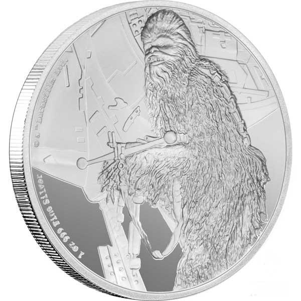 2017 Star Wars Classic Chewbacca 1oz Silver