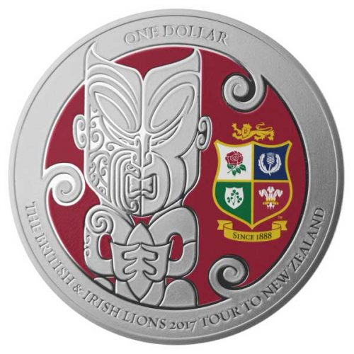 BRITISH AND IRISH LIONS RUGBY TOUR 2017 NZ 1oz SILVER