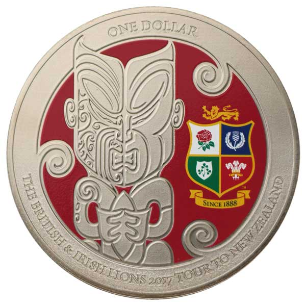 The British and Irish Lions 2017 Tour to New Zealand Brilliant Uncirculated Coin