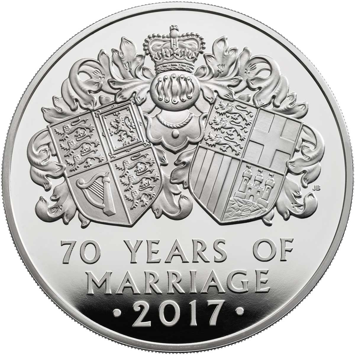 PLATINUM WEDDING 2017 UNITED KINGDOM 5OZ PROOF SILVER