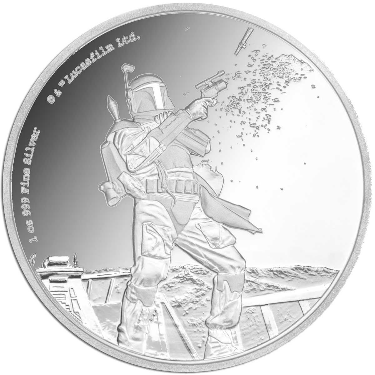 2017 Star Wars Classic Boba Fett 1oz Silver Proof Coin