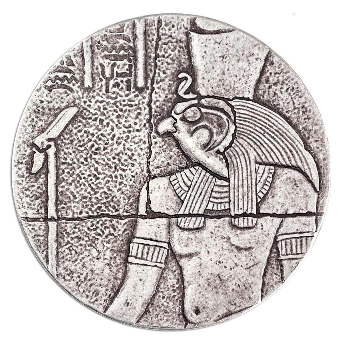 EGYPTIAN RELICS HORUS 2016 CHAD 2OZ SILVER