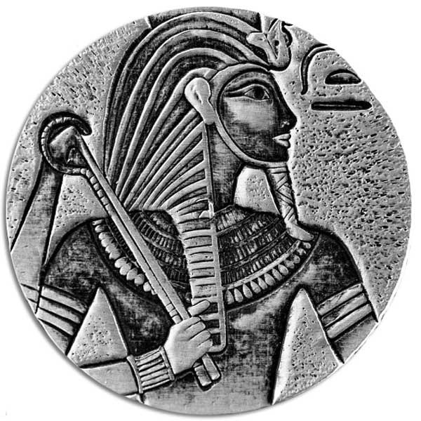 EGYPTIAN RELICS TUTANKHAMUN 2016 CHAD 5OZ SILVER