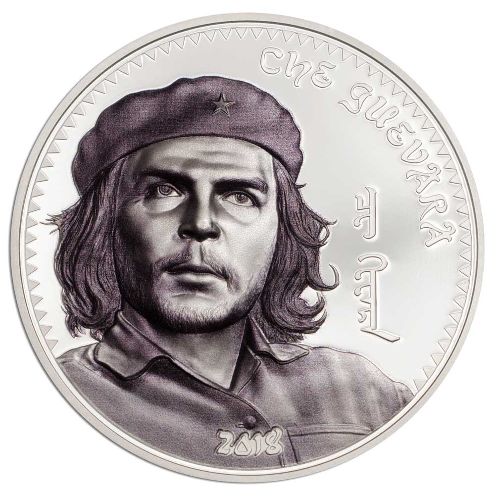 CIT 2018 Che Guevara 1oz Antiqued Silver High Relief Coin