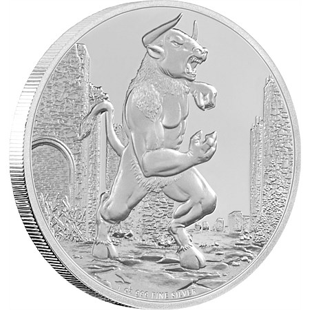 Creatures of Greek Mythology - Minotaur Silver Coin 1 oz Silver Coin