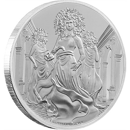 Creatures of Greek Mythology – Gorgon 1 oz Silver Coin