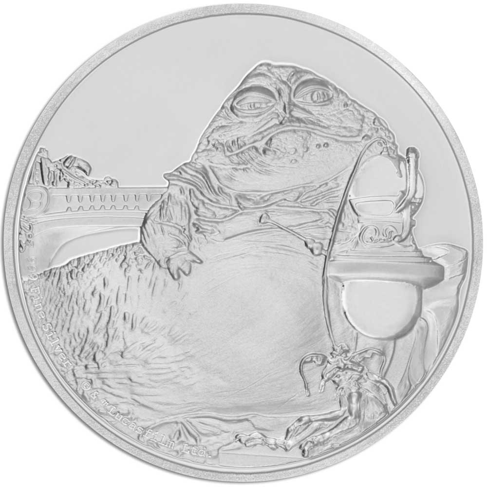 2017 Star Wars Classic Jabba the Hutt 1oz Silver Proof Coin