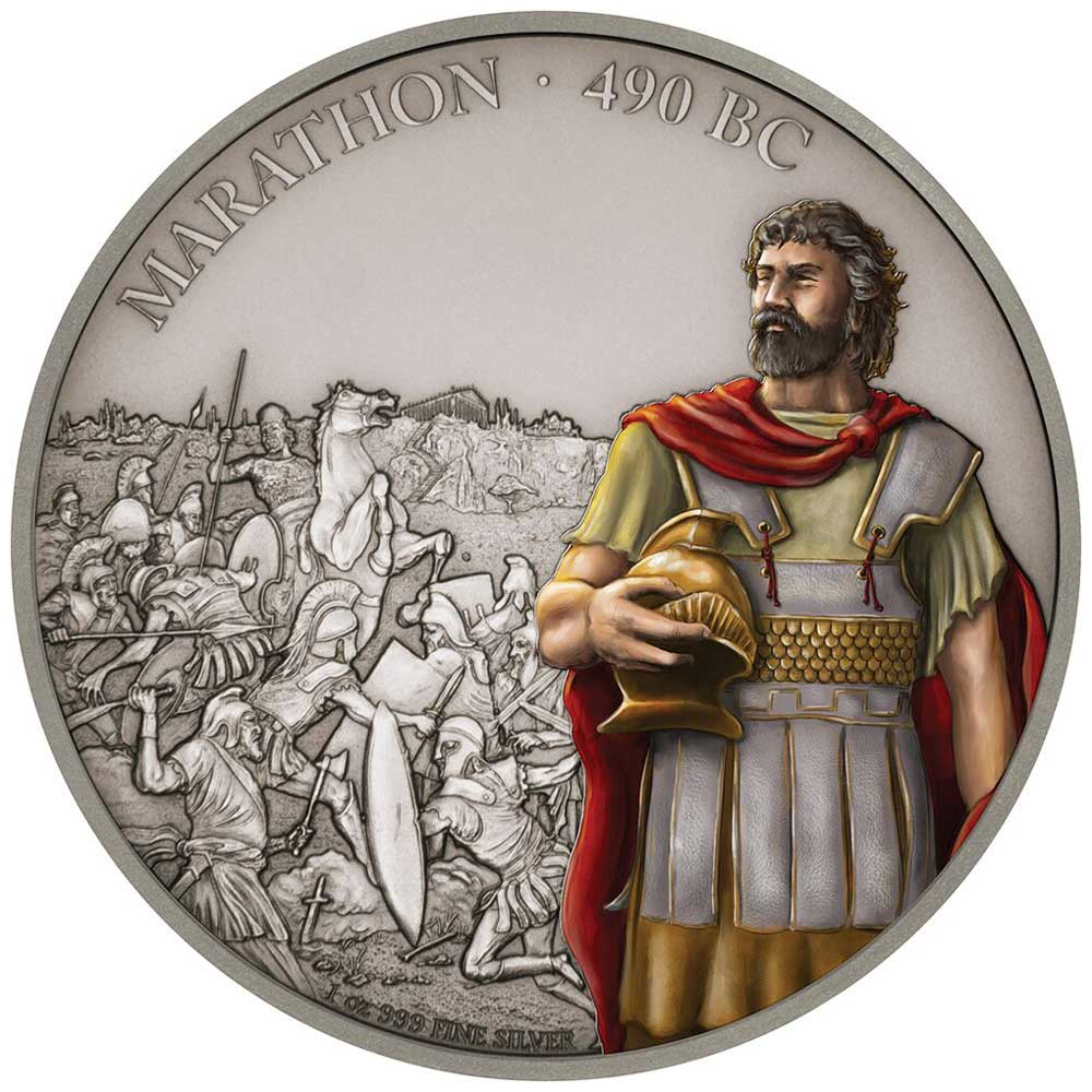 Battles That Changed History: Marathon 2018 Niue 1oz Silver