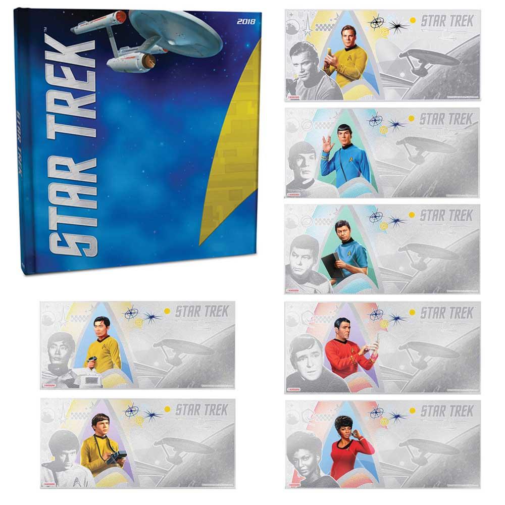 STAR TREK: THE ORIGINAL SERIES 2018 Niue 5g silver note set