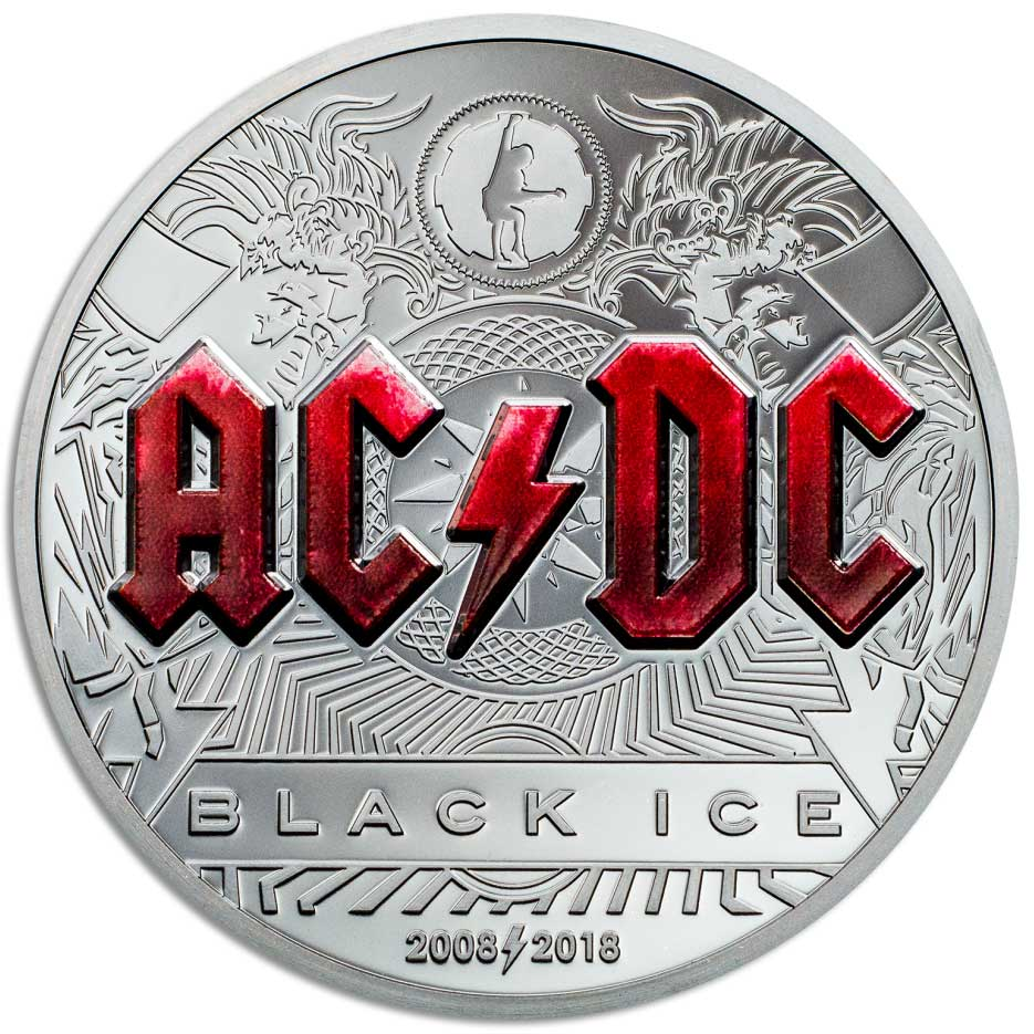 CIT 2018 AC/DC Black Ice 2oz silver proof coin