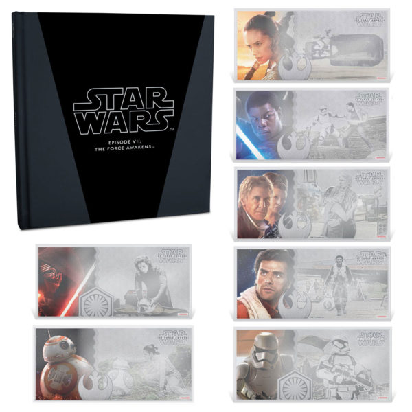 STAR WARS VII THE FORCE AWAKENS: The Complete 2019 Set - 7x 5g silver notes