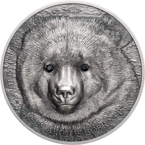 WILDLIFE PROTECTION: GOBI BEAR 2019 Mongolia 1oz silver coin
