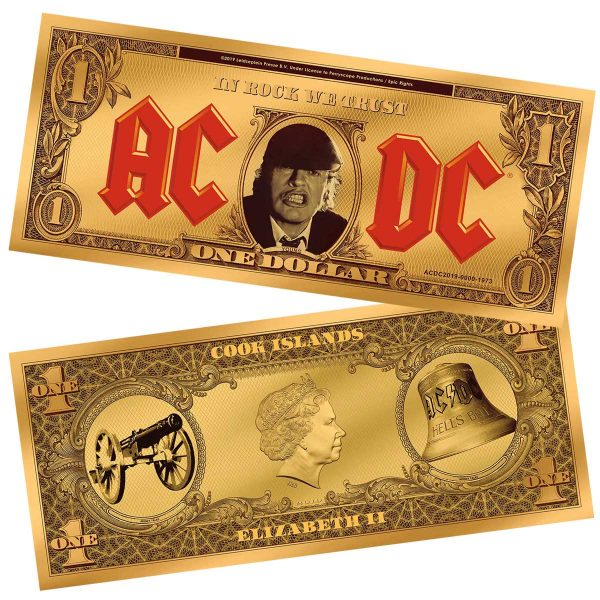 AC/DC ANGUS BUCK 2019 Cook Islands 0.3g gold foil