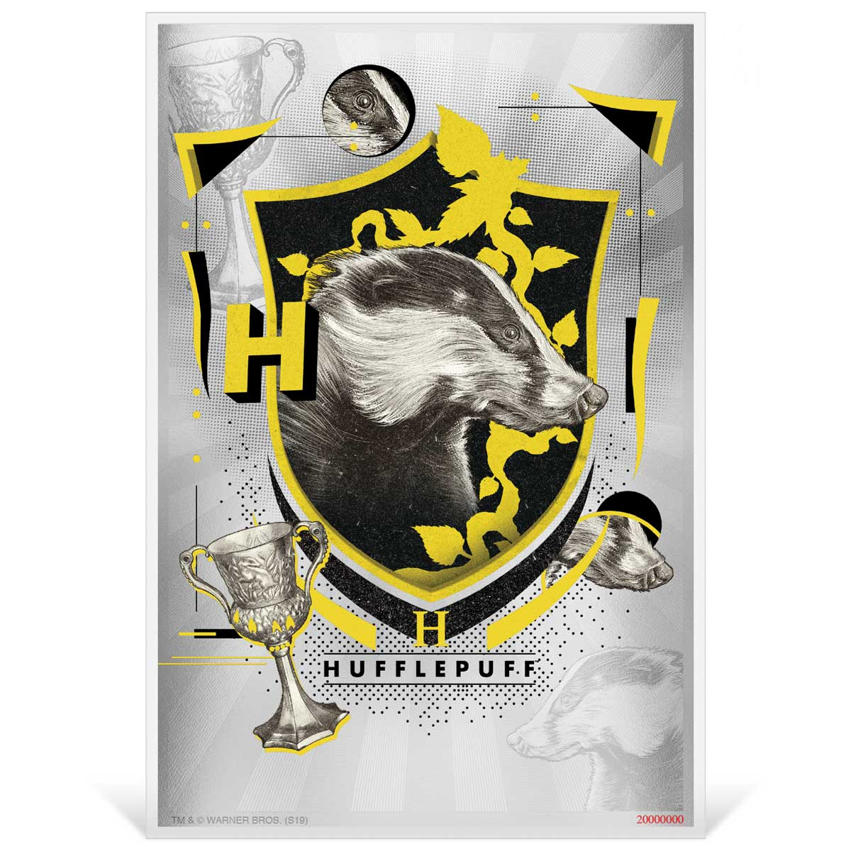 HARRY POTTER HOUSES: HUFFLEPUFF 2020 Niue 5g silver foil