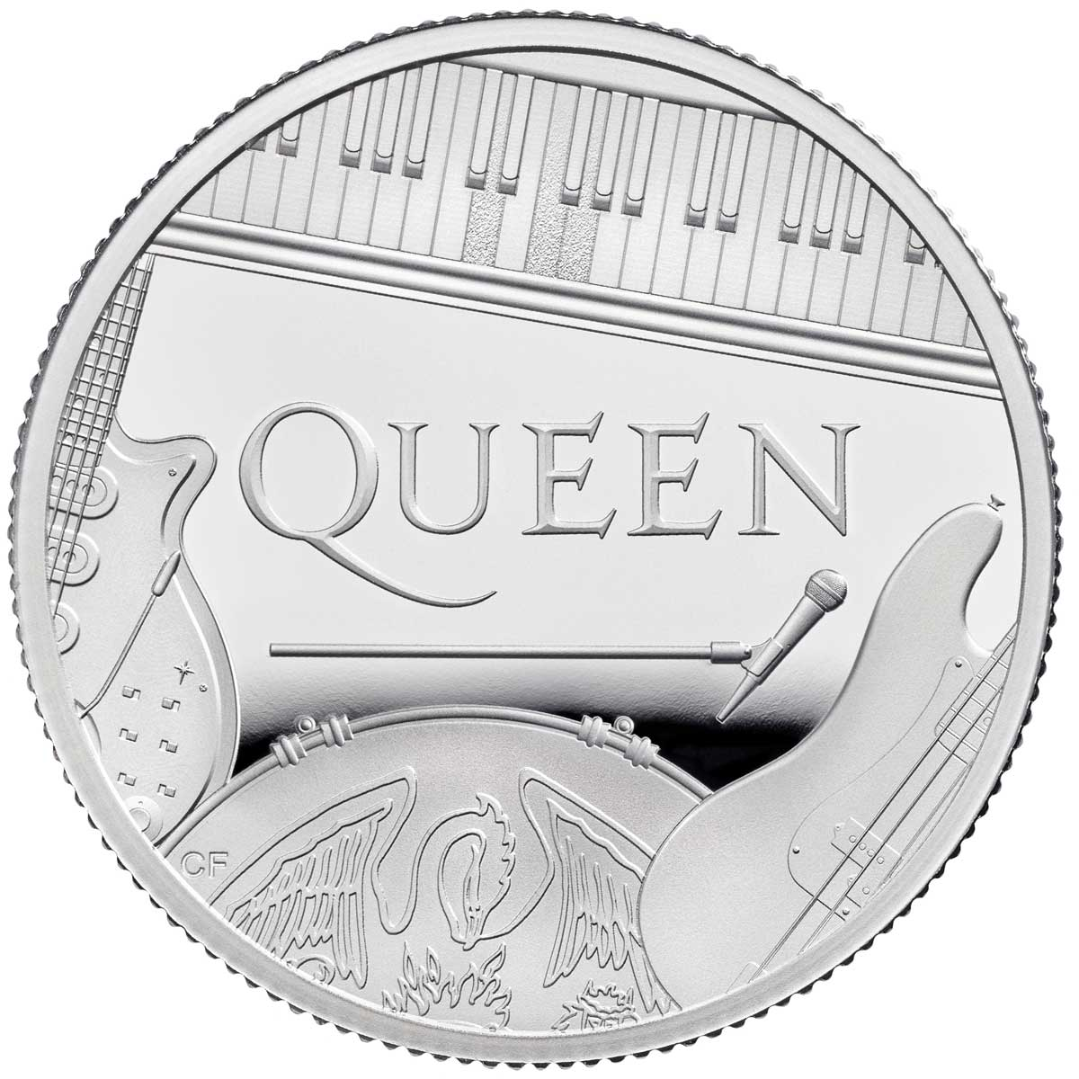 MUSIC LEGENDS: QUEEN 2020 UK 1/2oz proof silver coin