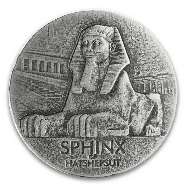 EGYPTIAN RELICS SERIES 2019 Sphinx of Hatshepsut 5oz silver