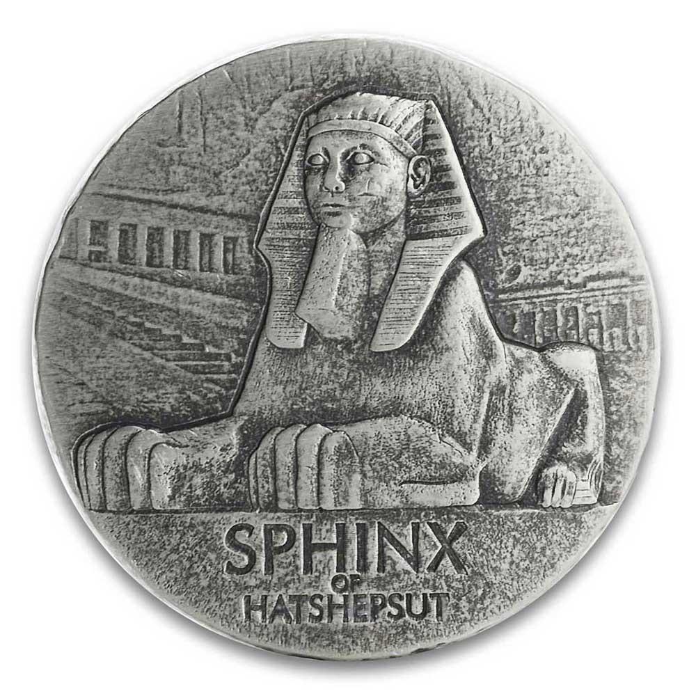 EGYPTIAN RELICS SERIES 2019 Sphinx of Hatshepsut 5oz silver