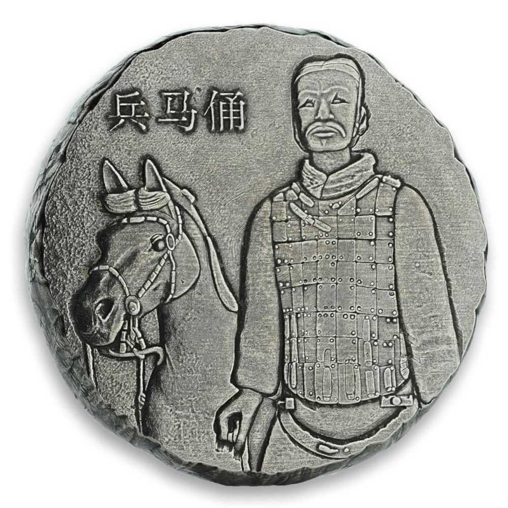 TERRACOTTA WARRIORS 2019 Qin Shi Huang 5oz silver BU coin
