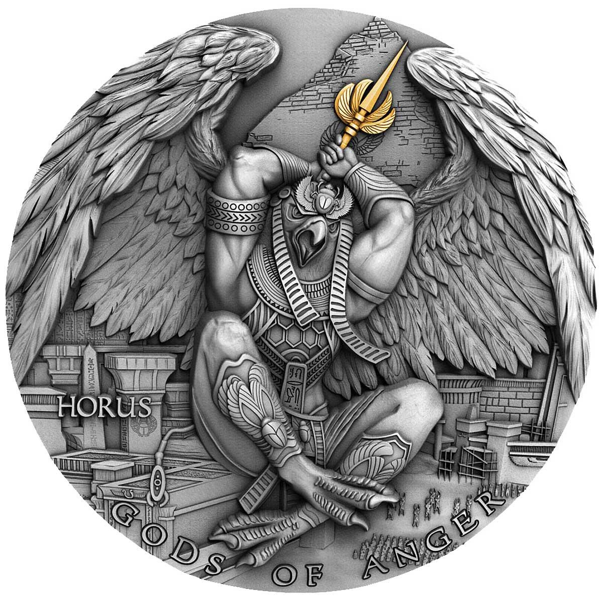 GODS OF ANGER: HORUS 2020 Niue 2oz silver coin