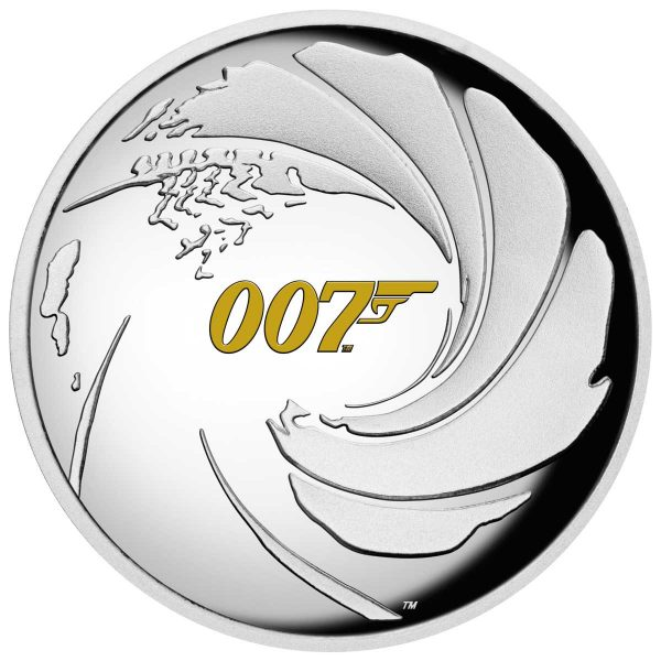 BOND JAMES BOND 2020 Tuvalu 1oz Proof High Relief Silver Coin