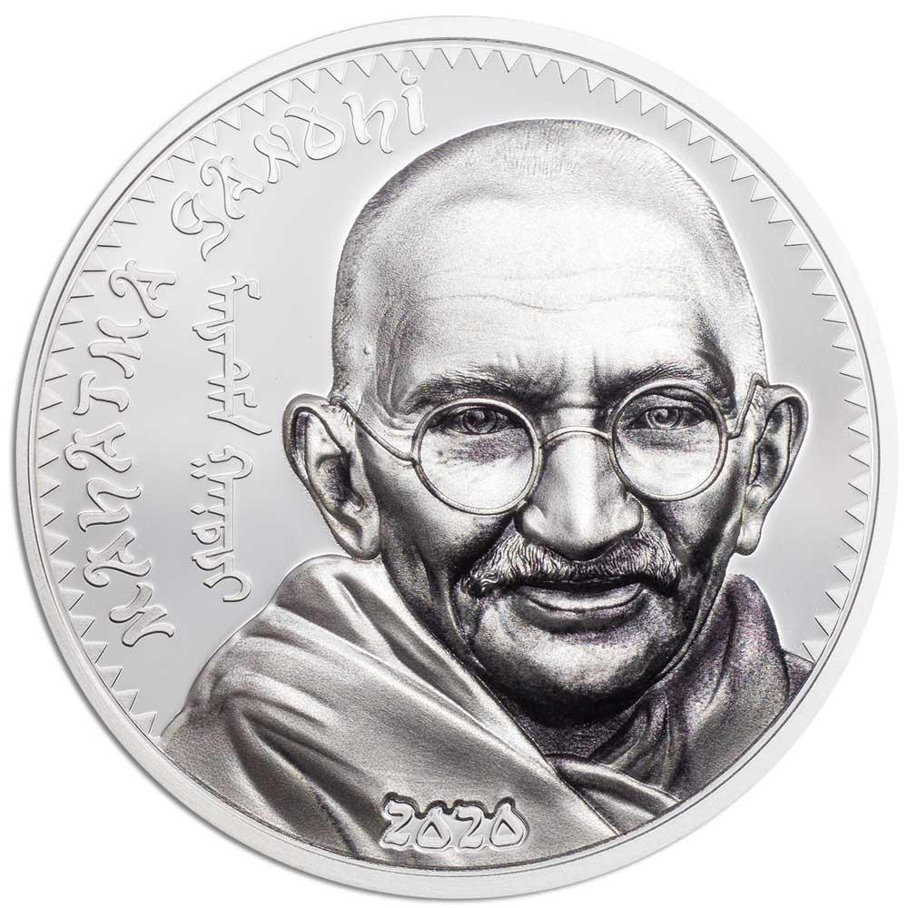 REVOLUTIONARIES: MAHATMA GANDHI 2020 Mongolia 1oz silver coin