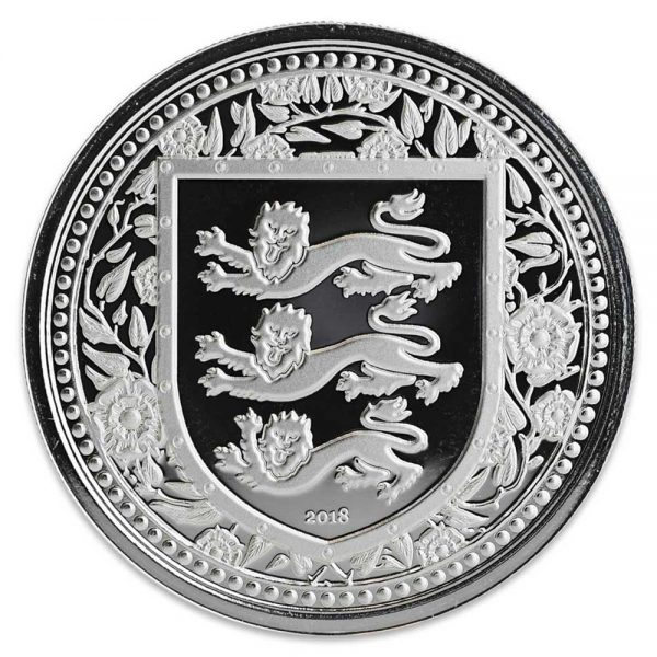 ROYAL ARMS OF ENGLAND 2018 Gibraltar 1 oz Silver Coin