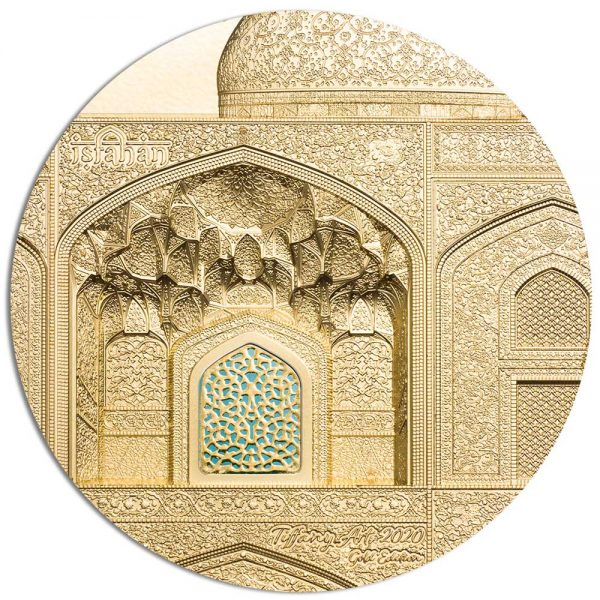TIFFANY ART ISFAHAN 2020 Palau 5oz gold coin