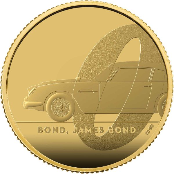 Bond, James Bond 2020 UK £25 1/4oz Gold Proof Coin