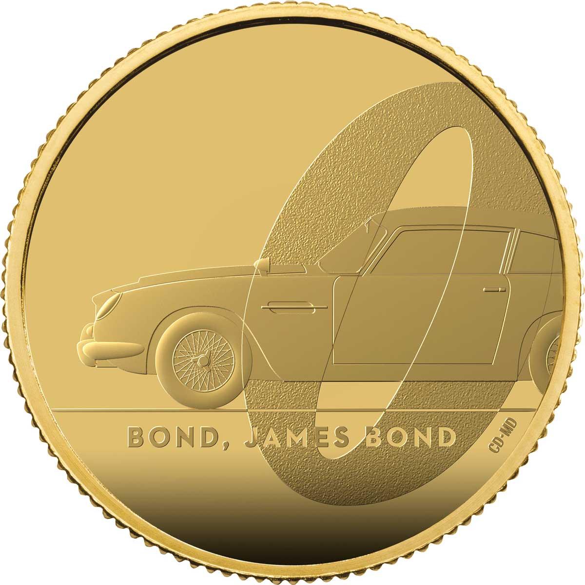 Bond, James Bond 2020 UK £25 1/4oz Gold Proof Coin