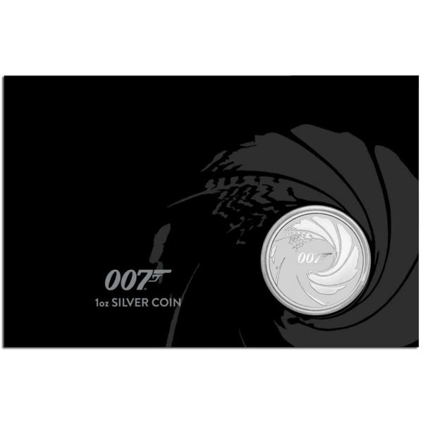 BOND JAMES BOND 2020 Tuvalu 1oz Silver Coin In Card