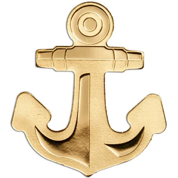GOLDEN ANCHOR 2019 Palau 0.5g minigold coin