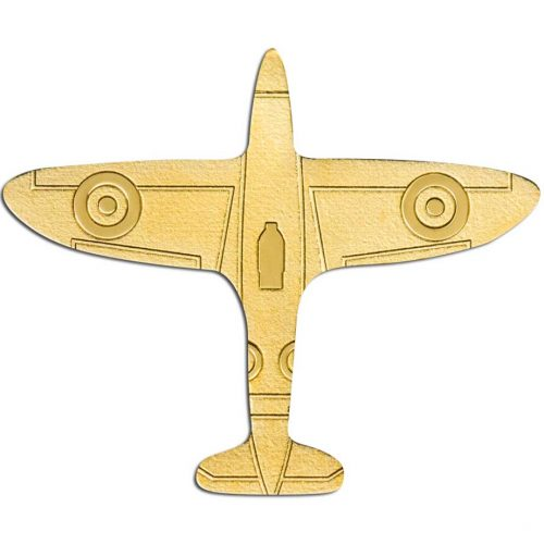 GOLDEN AIRPLANE 2020 Palau 0.5g minigold coin