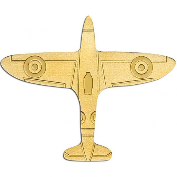 GOLDEN AIRPLANE 2020 Palau 0.5g minigold coin