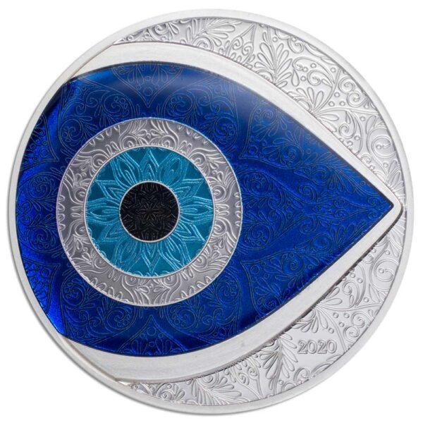 EVIL EYE 2020 Palau 1oz silver coin