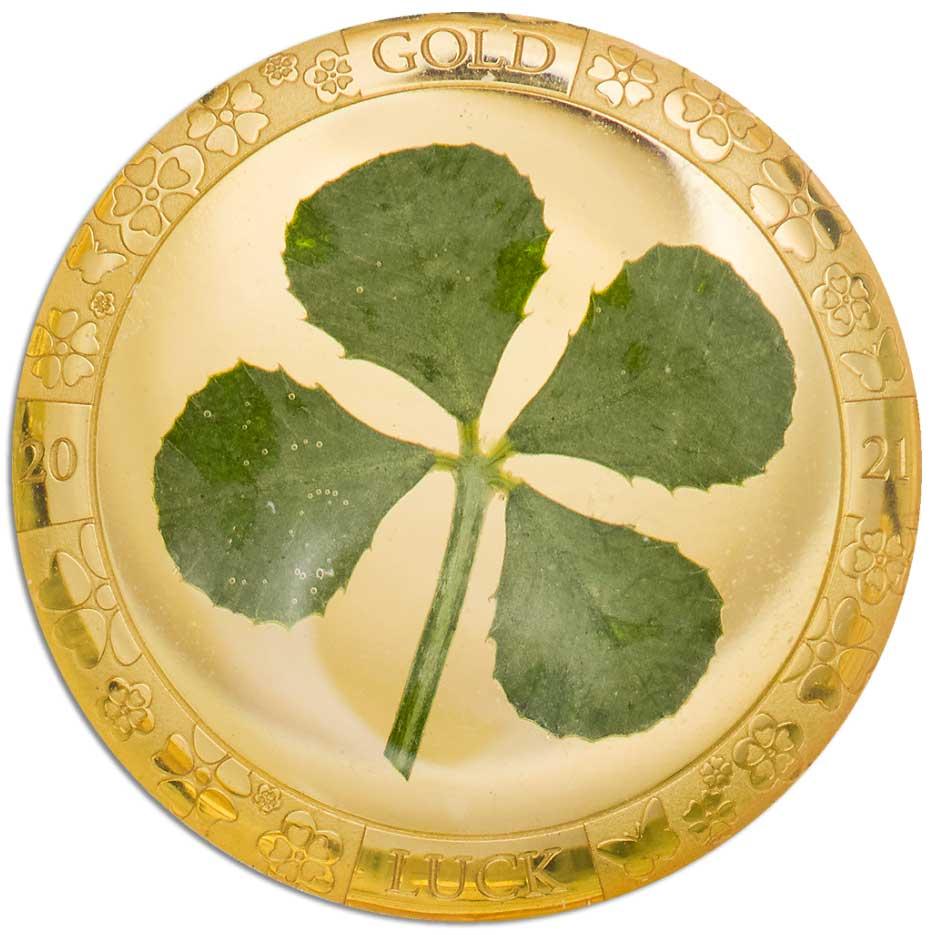 FOUR LEAF CLOVER 2021 - 1g .9999 gold coin