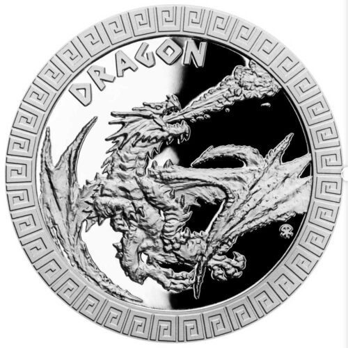 MYTHICAL CREATURES - DRAGON 2020 Niue 1oz proof silver coin