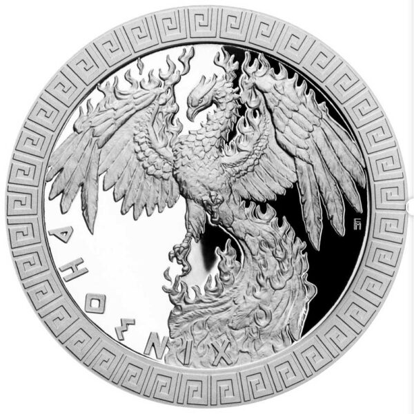 MYTHICAL CREATURES - PHOENIX 2020 Niue 1oz proof silver coin