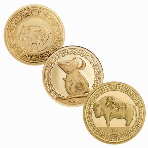 LUNAR YEAR COLLECTION - Mongolia 0.5g .9999 minigold