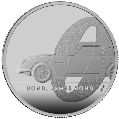 Bond, James Bond 2020 UK £5 2oz Silver Proof Coin