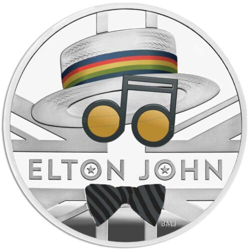 ELTON JOHN 2020 UK One Ounce Silver Proof Coin