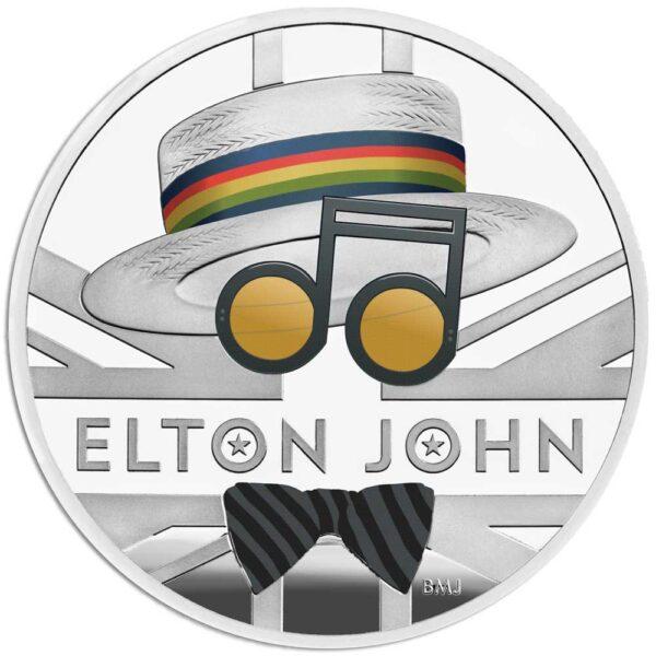 ELTON JOHN 2020 UK One Ounce Silver Proof Coin