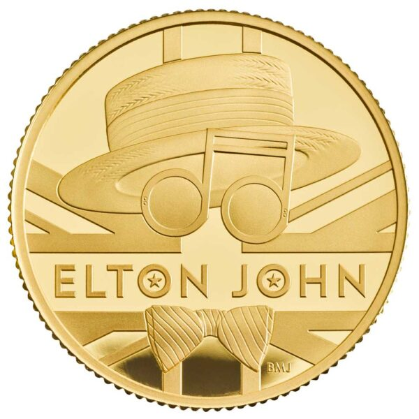 ELTON JOHN 2020 UK Quarter Ounce Gold Proof Coin