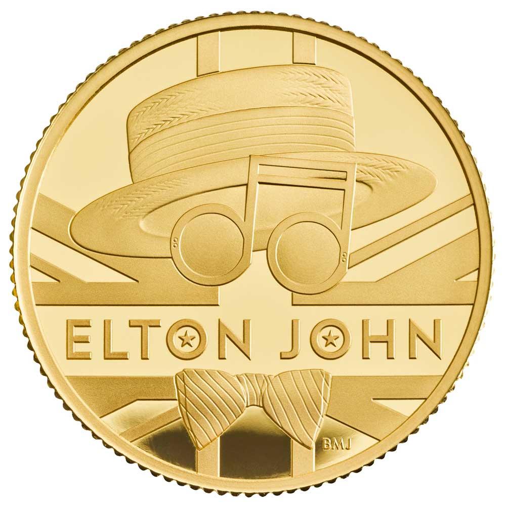 ELTON JOHN 2020 UK Quarter Ounce Gold Proof Coin